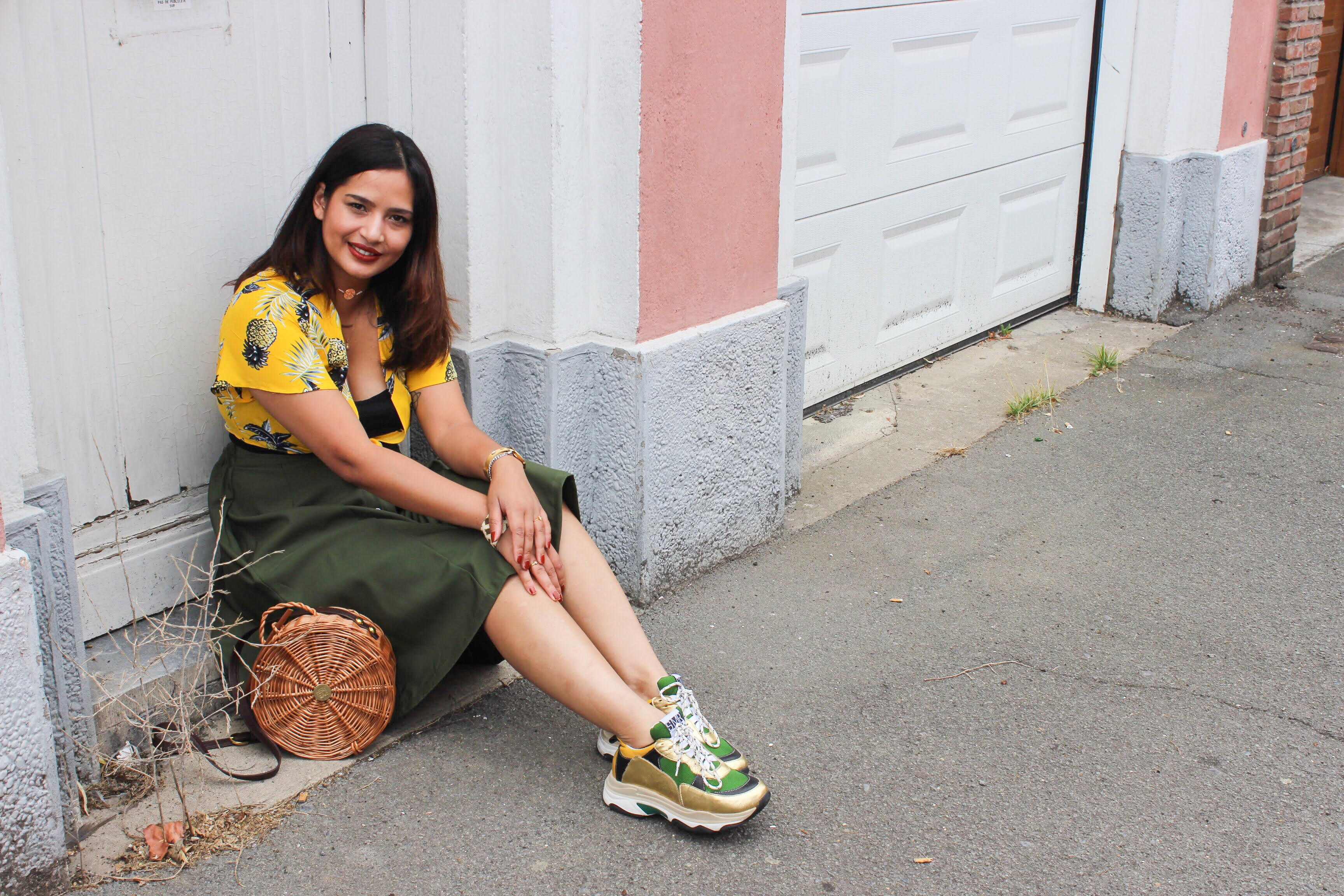 Outfit: Lovely Ananas and Kaki color #TotalShein Le Blog